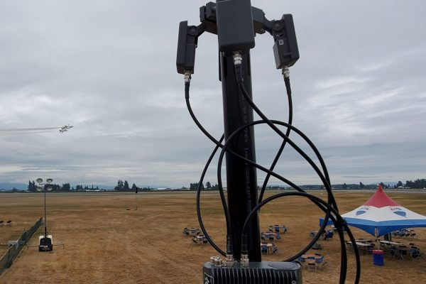 This drone detection system, supplied by Bravo Zulu and operated by BlueForce UAV, was used at the Abbotsford International Airshow. Organizers and regulators were impressed by the system's real-time detection capabilities. Image courtesy of BlueForce UAV
