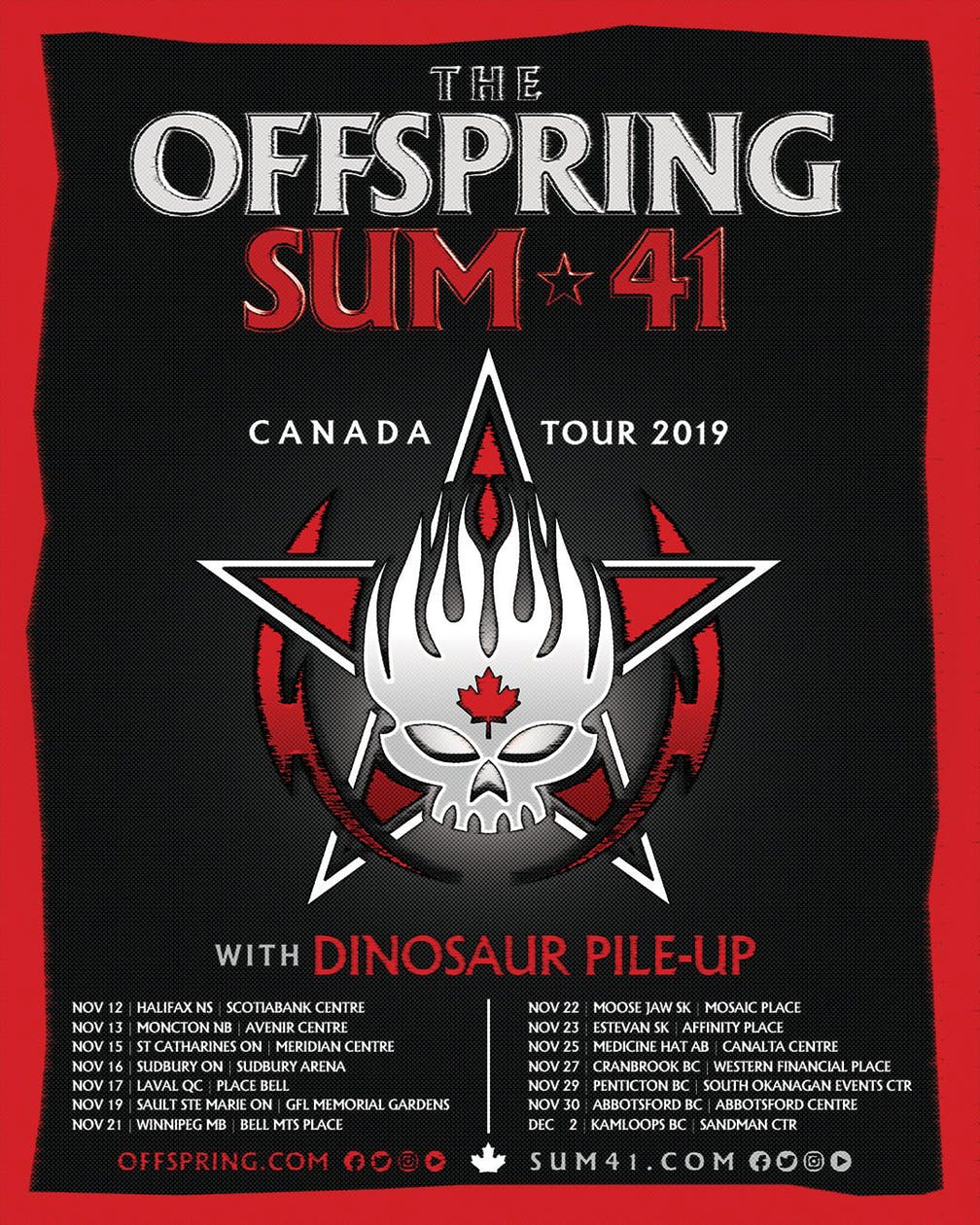 The Offspring & SUM 41 to Rock the Abbotsford Centre on November 30